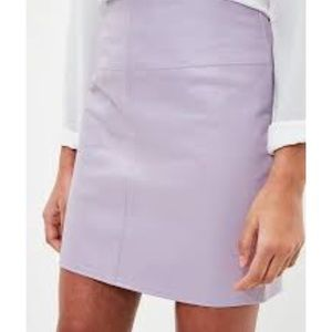 French Connection | lavender purple leather skirt